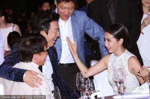 avec Huang Bo et Fan Bingbing