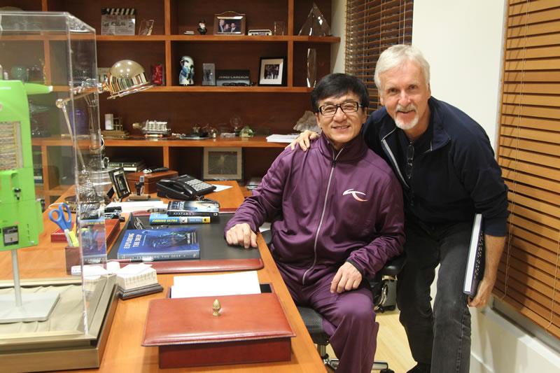 Jackie Chan et James Cameron