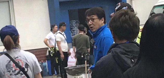 Jackie Chan tourne son nouveau film !